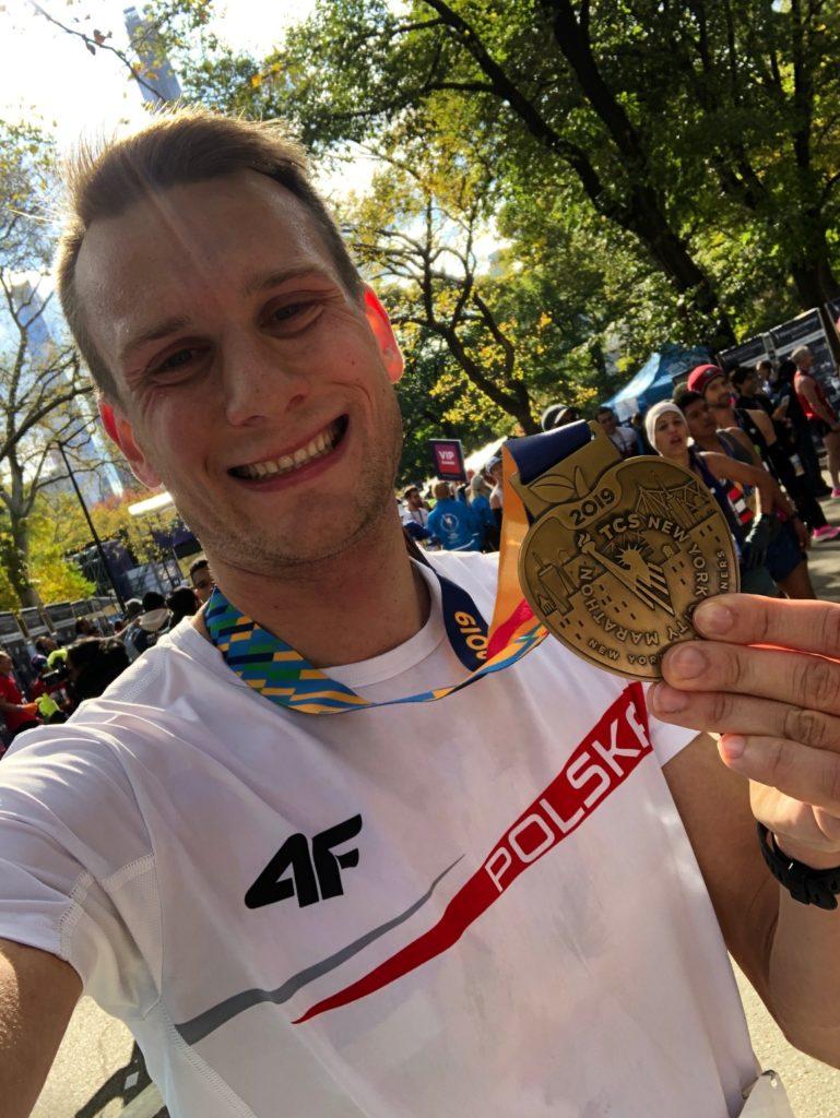 medal new york marathon