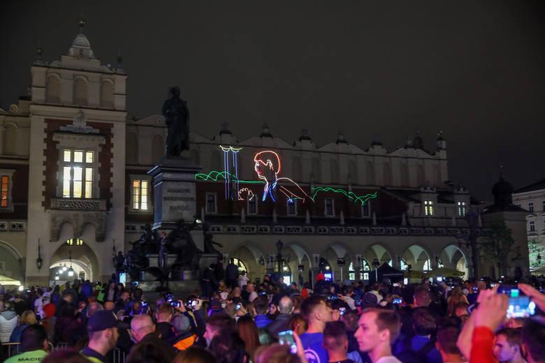 Bieg nocny pokaz laserów